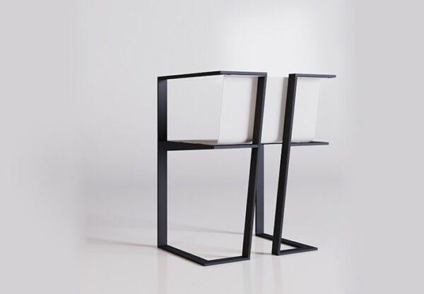 sedia in metallo verniciato